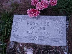 Rosa Lee <I>Brutton</I> Acker
