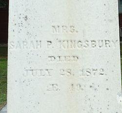 Sarah P <I>Clement</I> Kingsbury