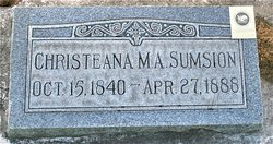Christeana Mary <I>Alleman</I> Sumsion