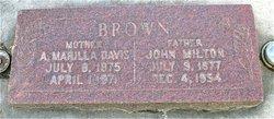 Annie Marilla <I>Davis</I> Brown