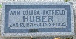 Ann Louisa <I>Hatfield</I> Huber