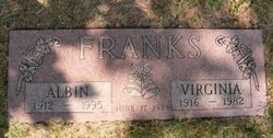 "Virginia Harriet ""Ginny"" <I>Brown</I> Franks"