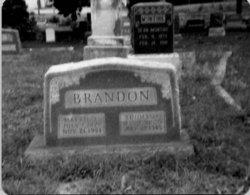 """Martha F """"Mattie"""" <I>Isham</I> Brandon"""