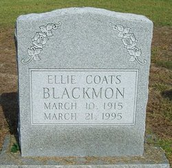 Ellie <I>Coats</I> Blackmon