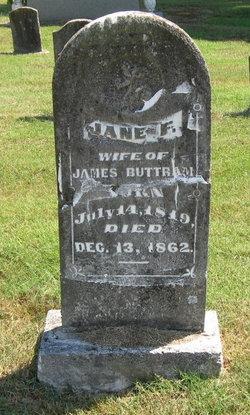 Jane F <I>Rothwell</I> Buttram