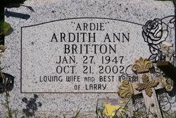 Ardith Ann <I>Rogers</I> Britton