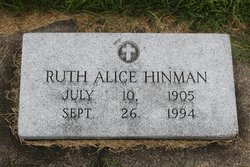 Ruth Alice <I>Thornton</I> Hinman
