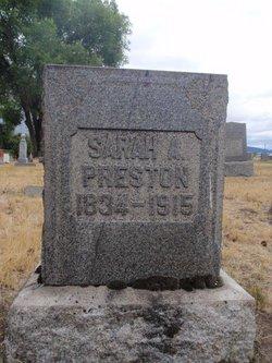 Sarah Ann <I>Robinson</I> Preston