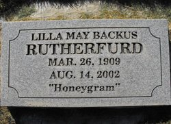"""Lilla May """"Honeygram"""" <I>Backus</I> Rutherfurd"""