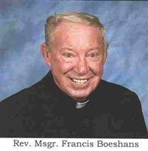 "Fr Francis George ""Frank"" Boeshans Jr."