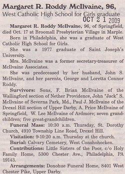 Margaret R <I>Roddy</I> McIlvaine