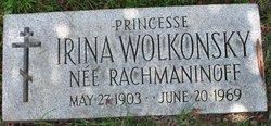 """Irina Sergievna """"Irene"""" <I>Rachmaninoff</I> Wolkonsky"""