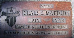 SSGT Clair E Mattoon