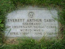 Everett Arthur Sabin
