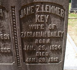 Jane Lemmer <I>Key</I> Bailey