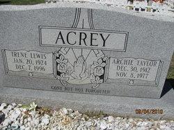 Irene <I>Lewis</I> Acrey