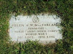 Helen A <I>Wilson</I> Mcfarland