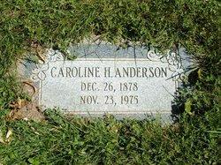 Caroline <I>Hanson</I> Anderson