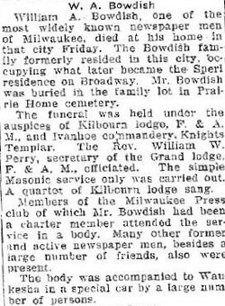William A Bowdish