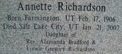 Annette <I>Richardson</I> Dinwoodey