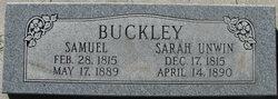 Sarah <I>Unwin</I> Buckley