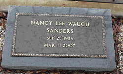 Nancy Lee <I>Waugh</I> Sanders
