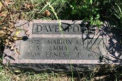 Emma A. <I>Evans</I> Davenport