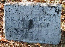 Martha Ann <I>Tucker</I> Pennington