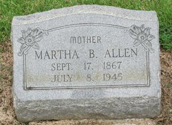 "Martha J. ""Mattie"" <I>Breeden</I> Allen"