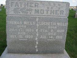 Mrs Lucretia <I>Barton</I> Mills