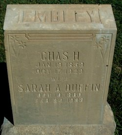 Sarah Ann <I>Duffin</I> Embley