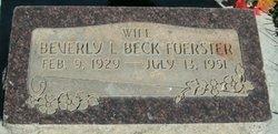Beverly Louise <I>Beck</I> Foerster