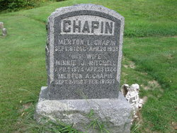 Minnie J <I>Mitchell</I> Chapin