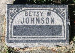 Betsy W Johnson