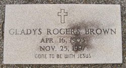 Gladys Sue <I>Rogers</I> Brown