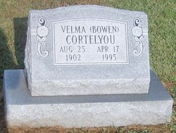 Velma <I>Bowen</I> Cortelyou