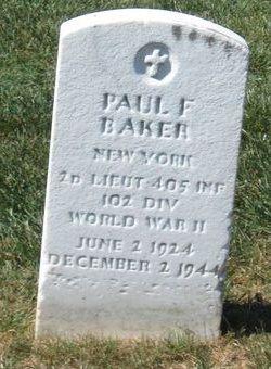 2LT Paul F Baker