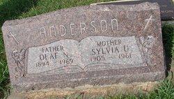 Sylvia Ulrikka <I>Olson</I> Anderson