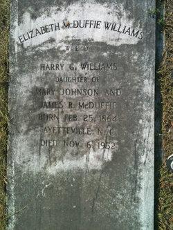 Elizabeth Ann <I>McDuffie</I> Williams