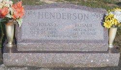 Nicholas E Henderson