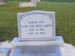 "Alice Ann ""Mamaw Ann"" <I>Price</I> Akins"