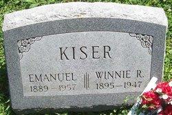 Winnie R <I>Rogers</I> Kiser