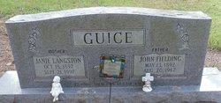 Mary Janie <I>Langston</I> Guice