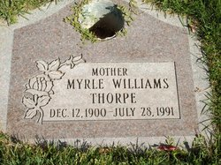 Myrle Velora <I>Williams</I> Thorpe