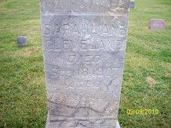 Sarah Jane <I>Shelhamer</I> Cleveland