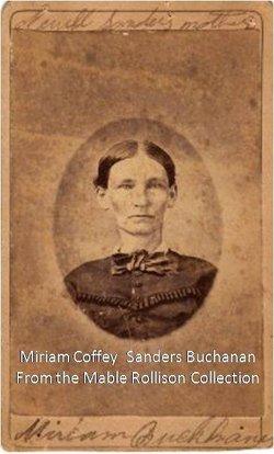 Miriam <I>Coffey</I> Sanders Buchanan