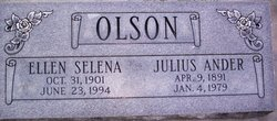 Ellen Selena <I>Luthy</I> Olson