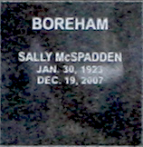 Sally <I>McSpadden</I> Boreham