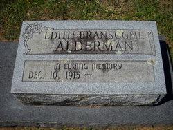 Snowie Edith <I>Branscome</I> Alderman