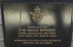 """Sgt F M """"Max"""" Bongers"""